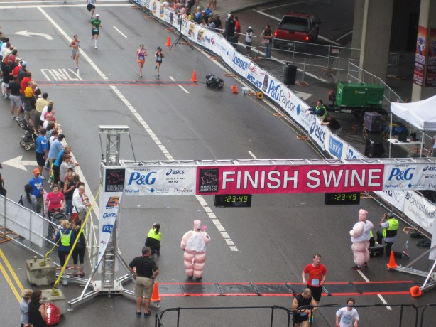Me coming up to the finish