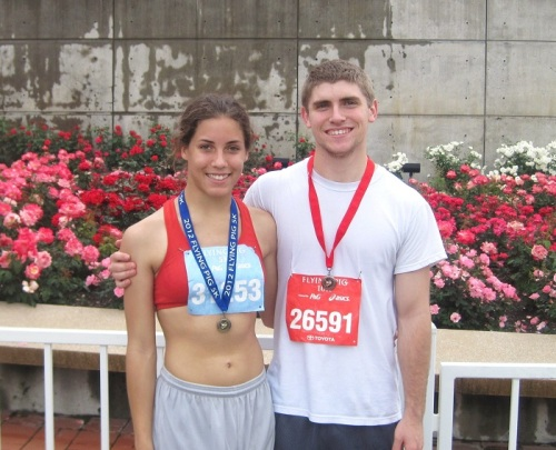 Nick and I post race