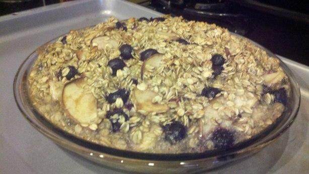 Baked Blueberry Peach Oatmeal